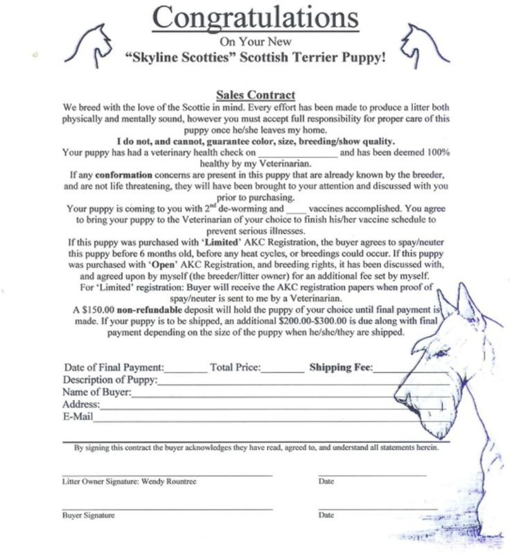 puppy contract template pdf  Picture | Whelping puppies, Dog grooming business, Puppy ..