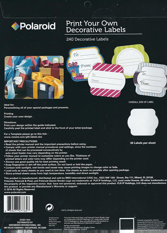 polaroid decorative labels template  polaroid label - polaroid decorative labels template