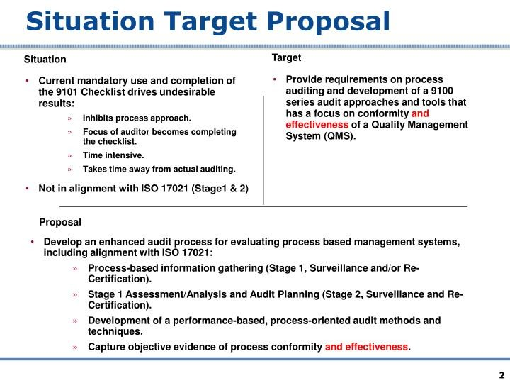 situation target proposal template  PPT - 9101:2009 RMC Workshop PowerPoint Presentation - ID ..