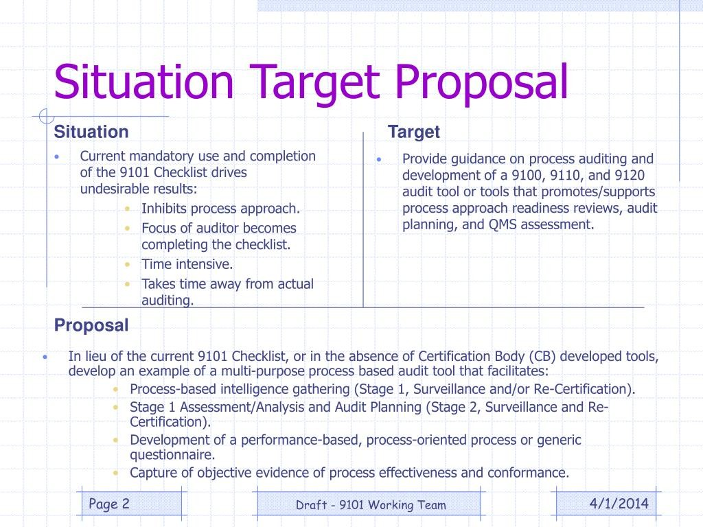 situation target proposal template  PPT - EN/AS/SJAC 9101 Re-Write PowerPoint Presentation ..