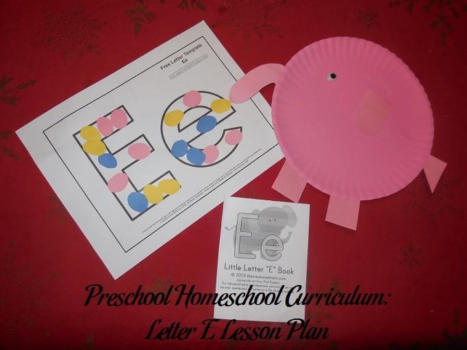 lesson plan template blank  Preschool Homeschool Curriculum: Letter E Lesson Plan ..