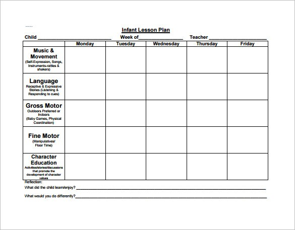 2 year old lesson plan template  Preschool Lesson Plan Template - 11+ Free PDF, Word Format ..