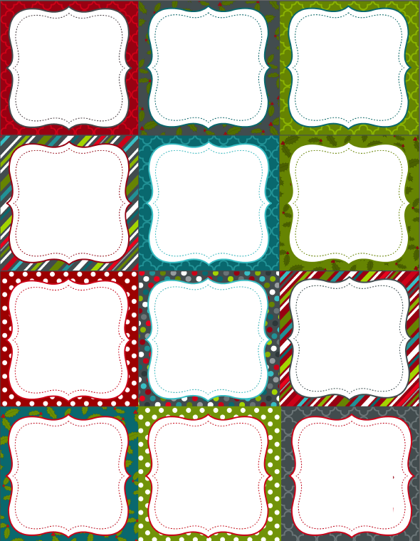 free printable labels template  Printable Christmas Labels for Homemade Baking | Free ..