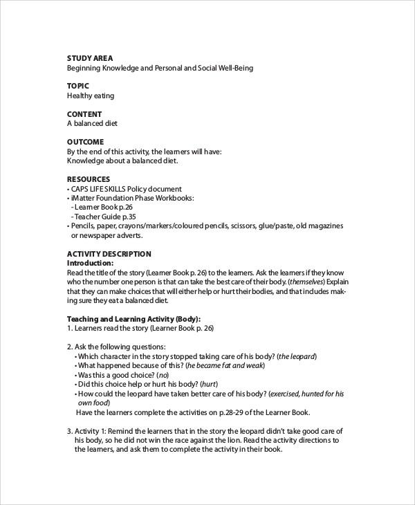 lesson plan template doc  Printable Lesson Plan - 7+ Free Word, PDF Documents ..