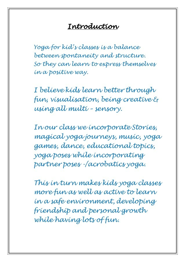 yoga proposal template  Proposal of Expression of Interest to Schools Northern Beaches - yoga proposal template
