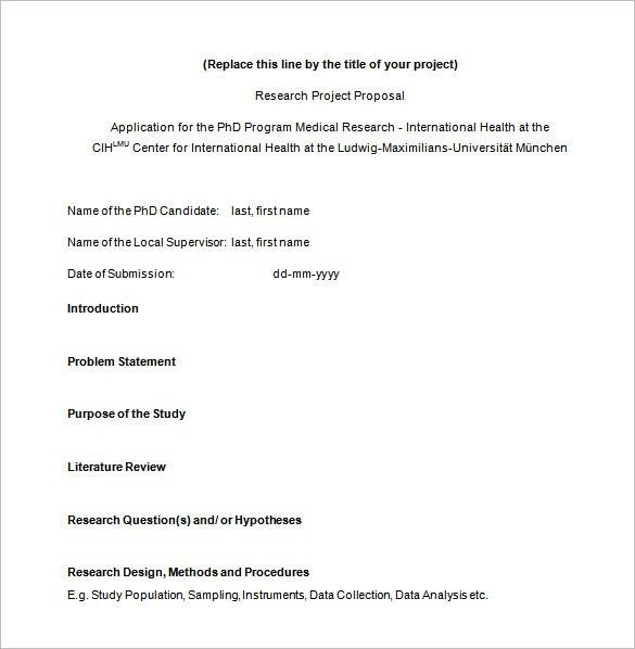 Phd research proposal development studies