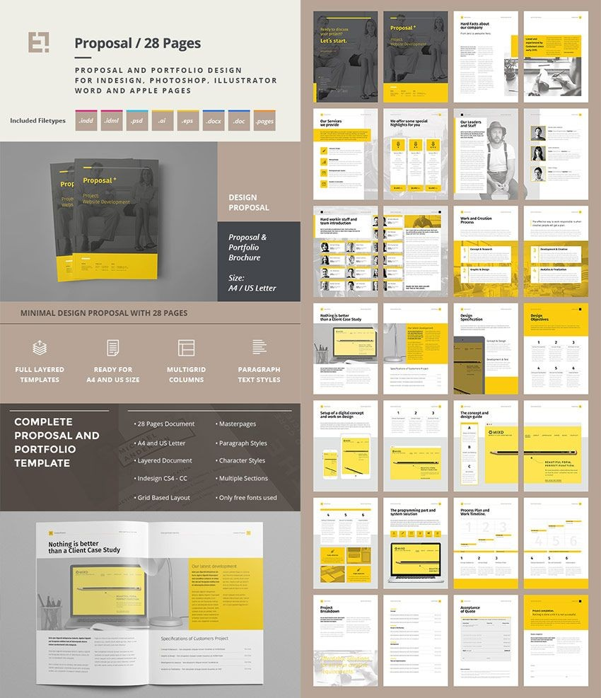template proposal kreatif  Proposal (With images) | Business proposal template ..