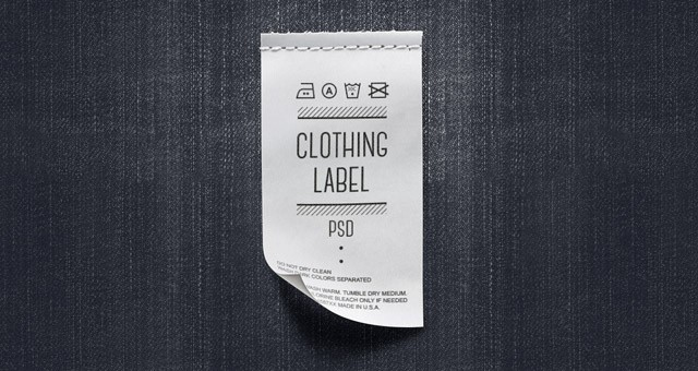 clothing labels template  Psd Clothing Label Mockup | Miscellaneous | Pixeden - clothing labels template