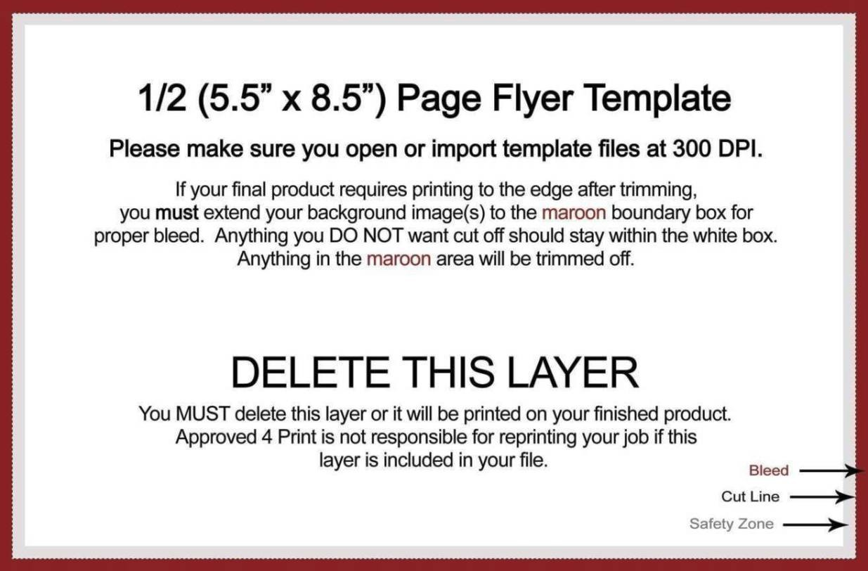 quarter sheet flyer template  Quarter Sheet Flyer Template Word - SampleTemplatess ..