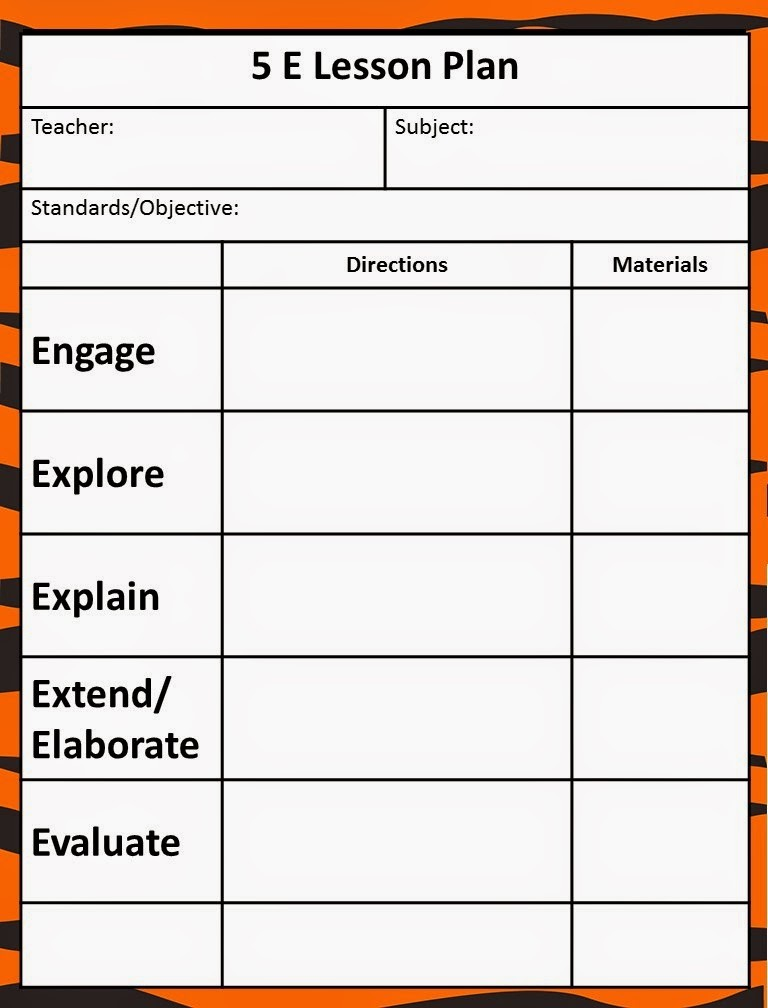 5 e model lesson plan template  Queen of the Jungle: The 5E Model - Our New Lesson Plans - 5 e model lesson plan template
