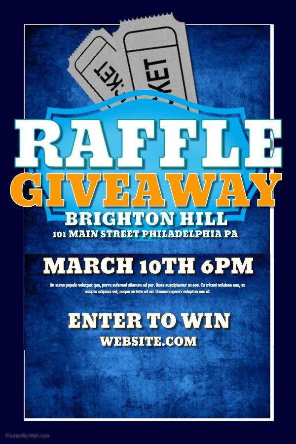 raffle flyer template  Raffle flyer template for giveaways. | Free psd flyer ..