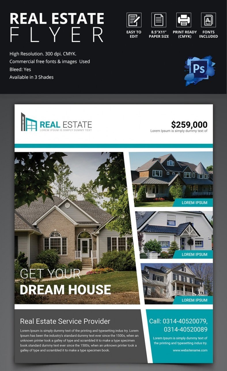 real estate flyer template free  Real Estate Flyer Template - 37+ Free PSD, AI, Vector EPS ..