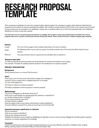 research proposal template  Research Proposal Template: Free Download, Create, Edit ..