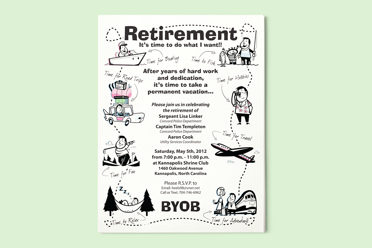 flyer template for retirement party  Retirement Party Flyer on Behance - flyer template for retirement party
