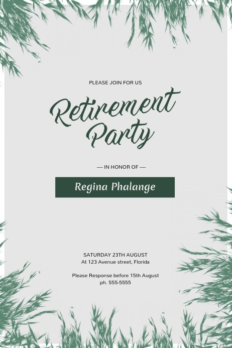 flyer template for retirement party  Retirement Party Flyer Template   PosterMyWall - flyer template for retirement party