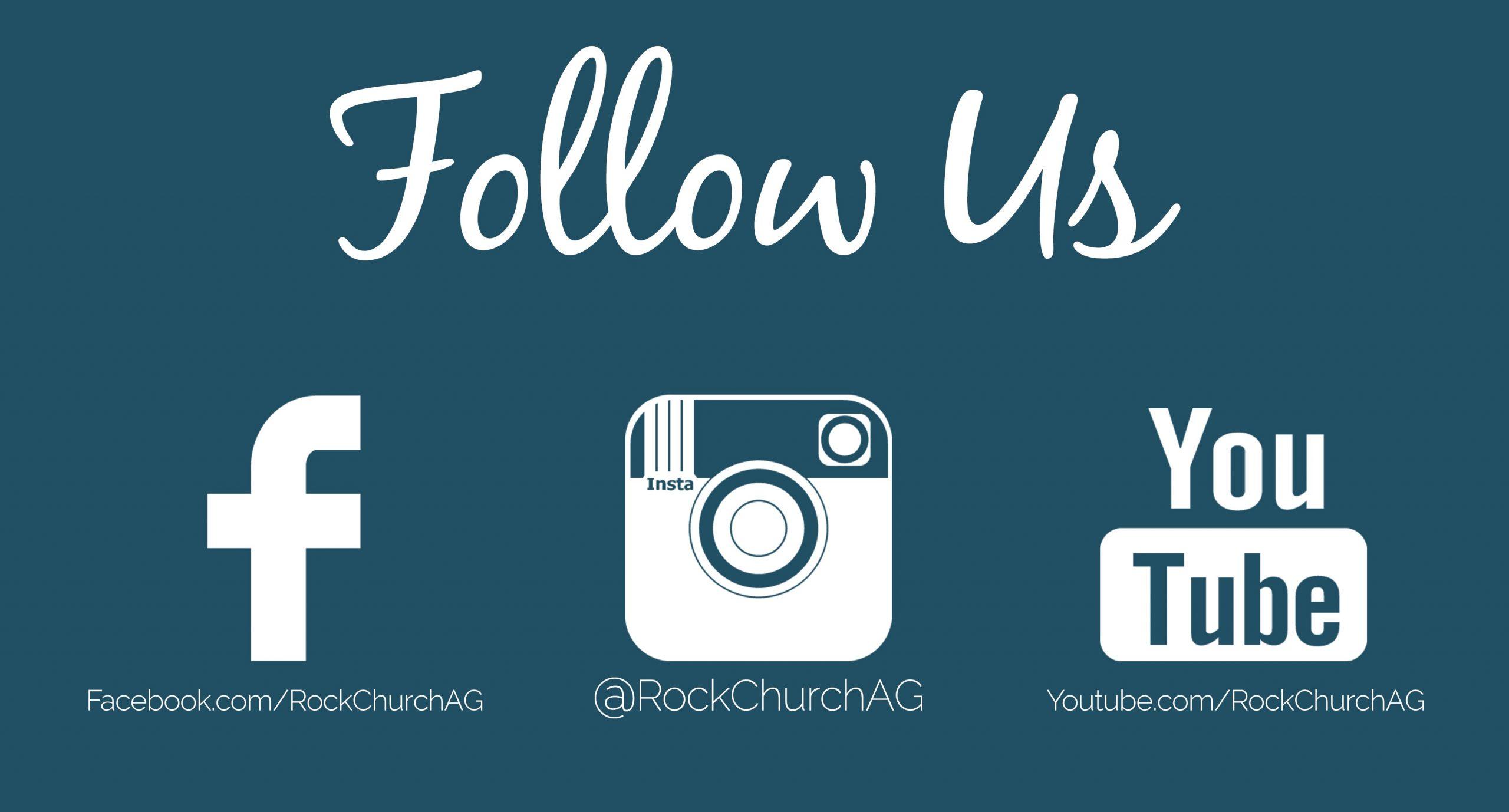 follow us flyer template  Rock Church   Rock Church AG Social Media Links - follow us flyer template