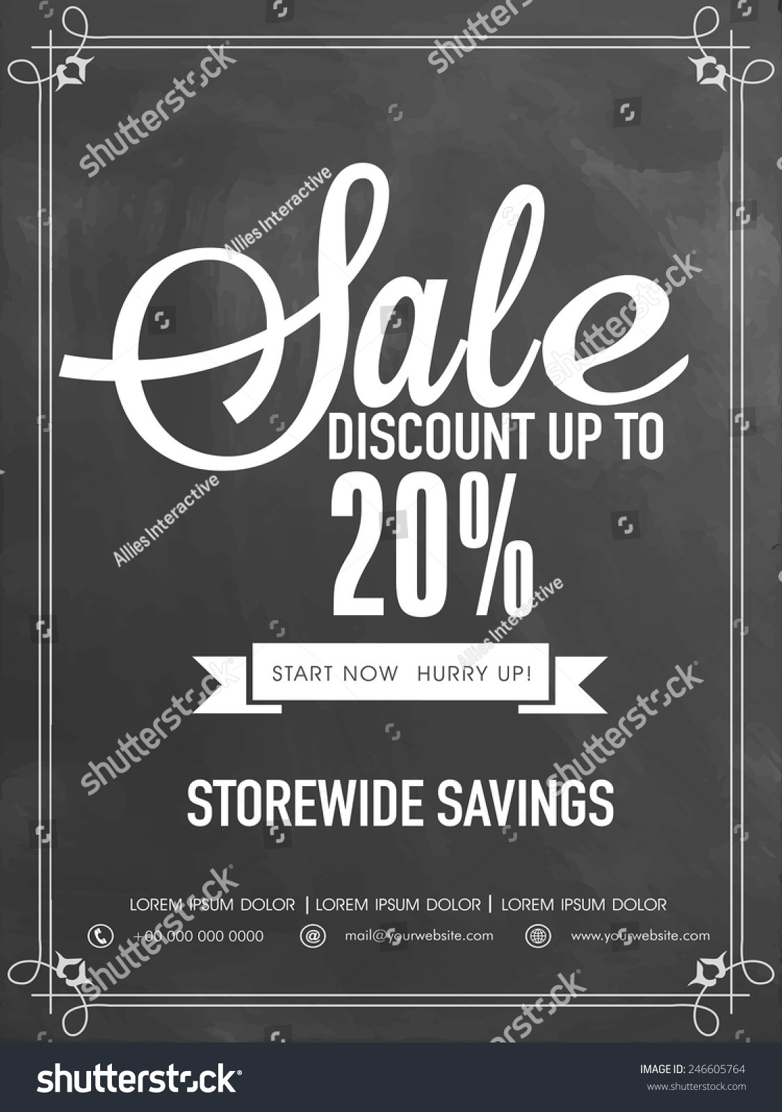 20 off flyer template  Sale Discount Upto 20 Off Flyer Stock Vector 246605764 ..