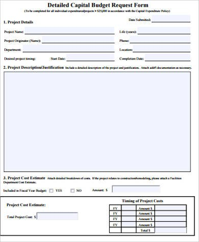 budget request form template  Sample Budget Request Form - 9+ Examples in Word, PDF - budget request form template