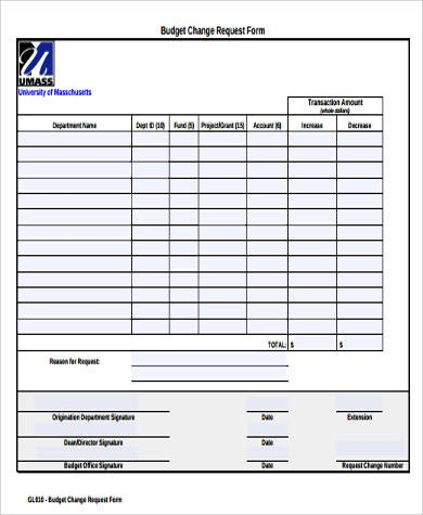 budget request template  Sample Budget Request Form - 9+ Examples in Word, PDF - budget request template