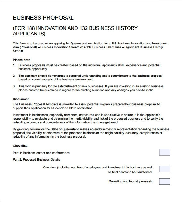 proposal template business proposal format pdf  Sample Business Proposal - 24+ Documents in PDF, Word - proposal template business proposal format pdf