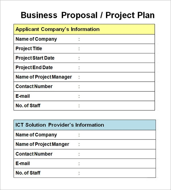 proposal template business proposal format pdf  Sample Business Proposal Template - 14+ Documents in PDF ..