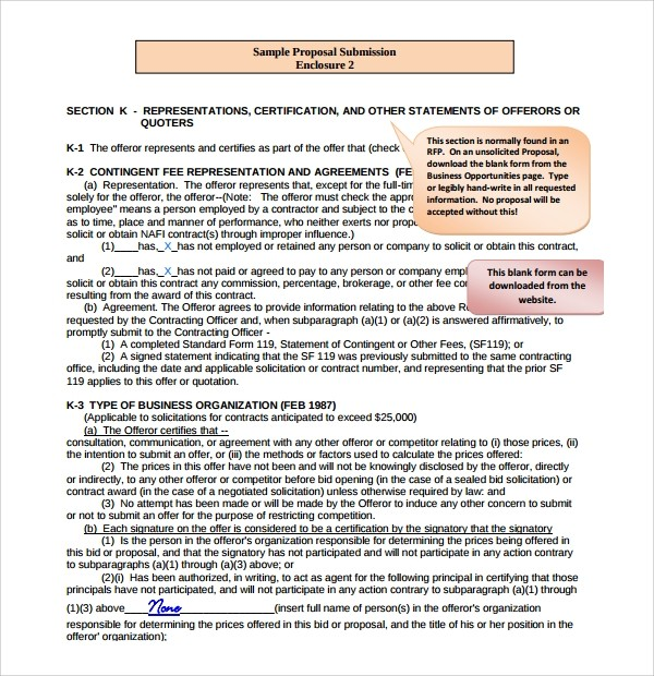 government proposal template  Sample Unsolicited Proposal Template - 8+ Free Documents ..
