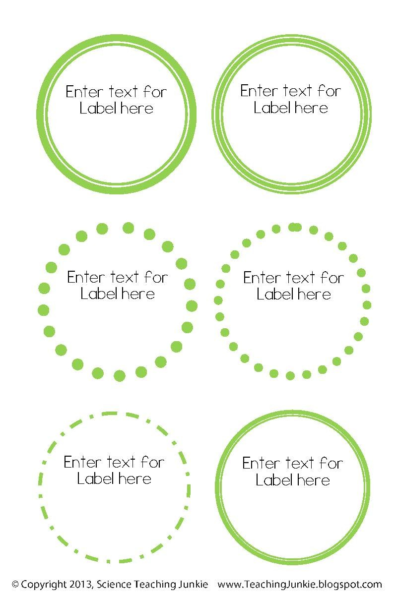 editable labels template  Science Teaching Junkie, Inc.: Office Organization and ..