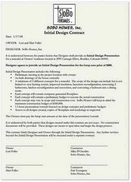 """house contract template  Selling the """"Design"""" in Design-Build 