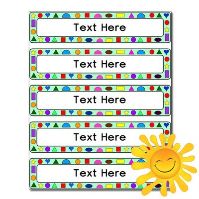 school drawer labels template  Shape Themed Drawer Labels (Small) - Primary Treasure Chest - school drawer labels template