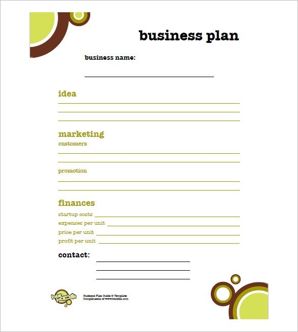 simple business plan template excel  Simple Business Plan Template – 14+ Free Word, Excel, Pdf ..