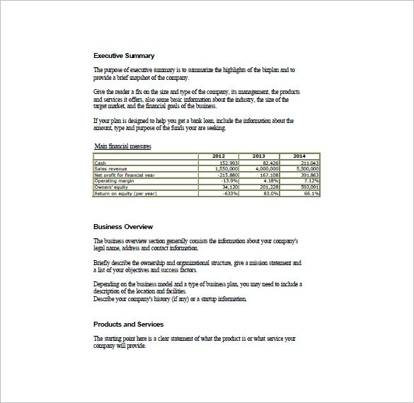 simple business plan template excel  Simple Business Plan Template - 20+ Free Word, Excel, PDF ..