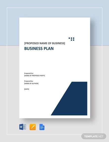 business plan cover page template free  Small Business Plan Template - 15+ Word, Excel PDF, Google ..