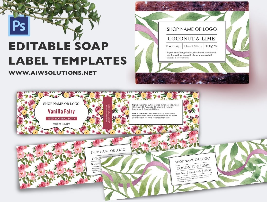 soap labels template  Soap label template id48 ~ Stationery Templates ~ Creative ..
