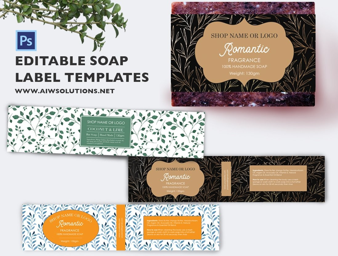 soap labels template  Soap label template id49 ~ Stationery Templates ~ Creative ..