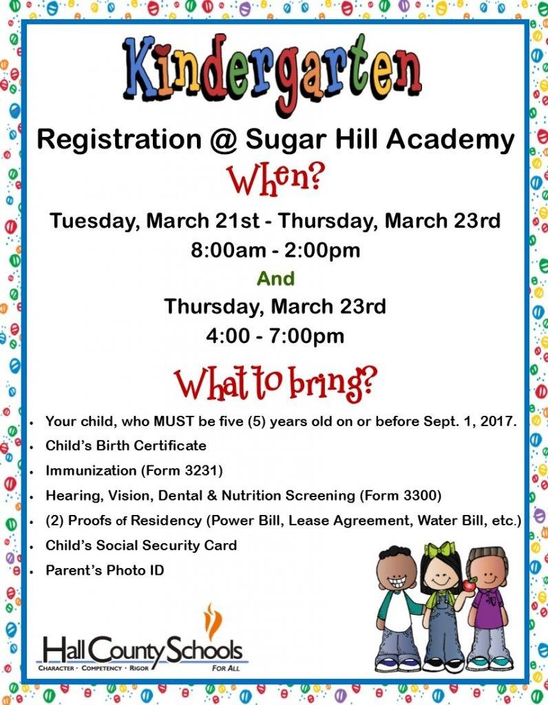 kindergarten registration flyer template  Sugar Hill Elementary » Kindergarten Registration - kindergarten registration flyer template