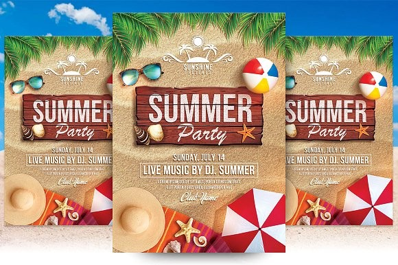 summer flyer template  Summer Party Flyer Template ~ Flyer Templates ~ Creative ..
