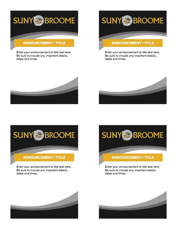 quarter sheet flyer template  Template: 8