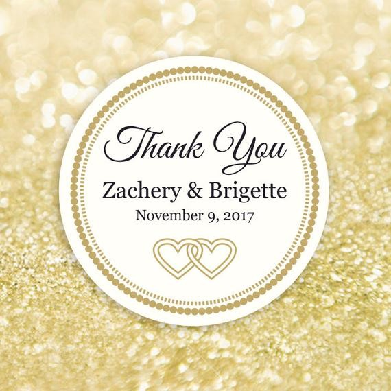 thank you labels template  Thank You Label Template Editable Printable Round Label - thank you labels template