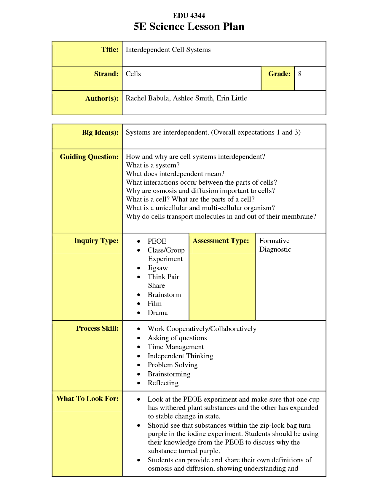 lesson plan template 5 e model  The 5E Lesson plan is an extremely useful way of planning ..