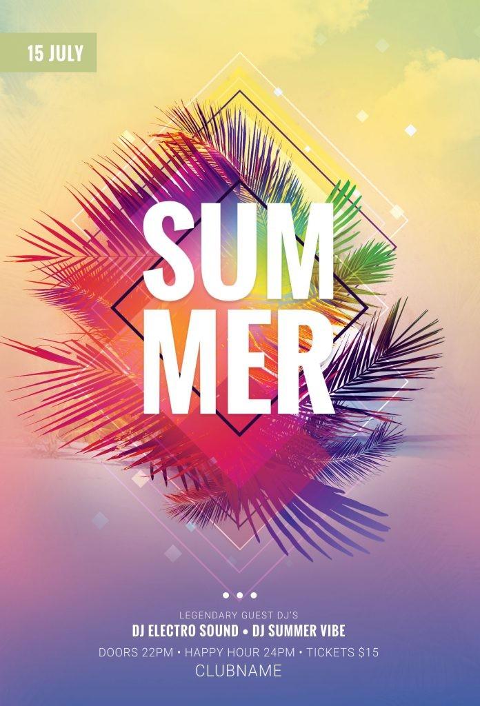 summer flyer template  The best Summer Flyer Templates in PSD • Stylewish - summer flyer template