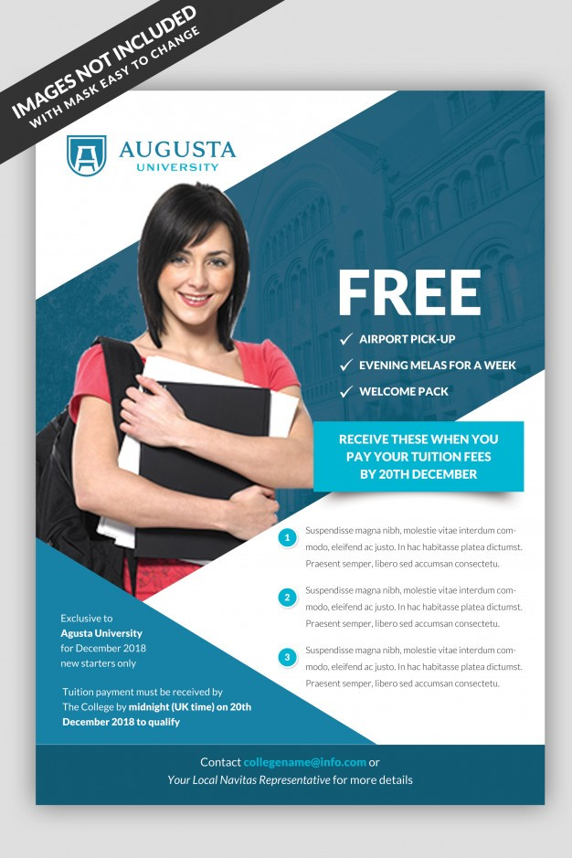 university flyer template free  University flyer template PSD file | Premium Download - university flyer template free
