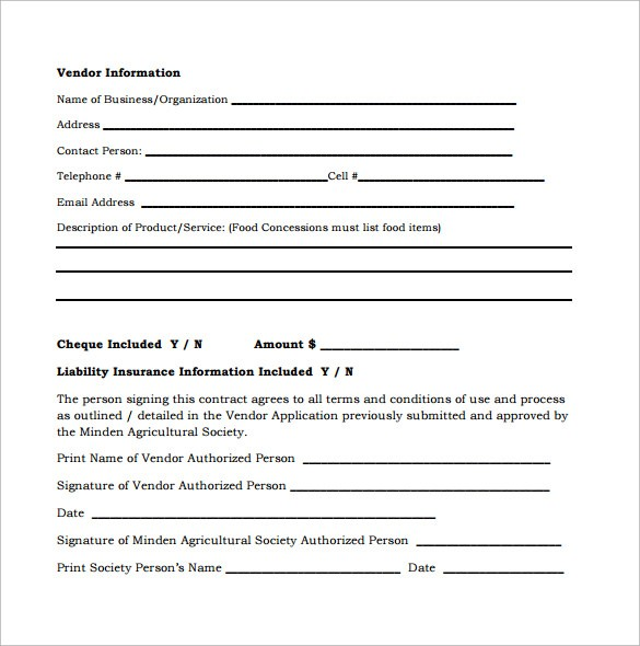free remodeling contract template word  Vendor Contract Template - 9+ Download Free Documents in ..