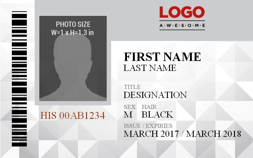 contract template in word  Vertical ID Badge Template | Free Word Templates - contract template in word