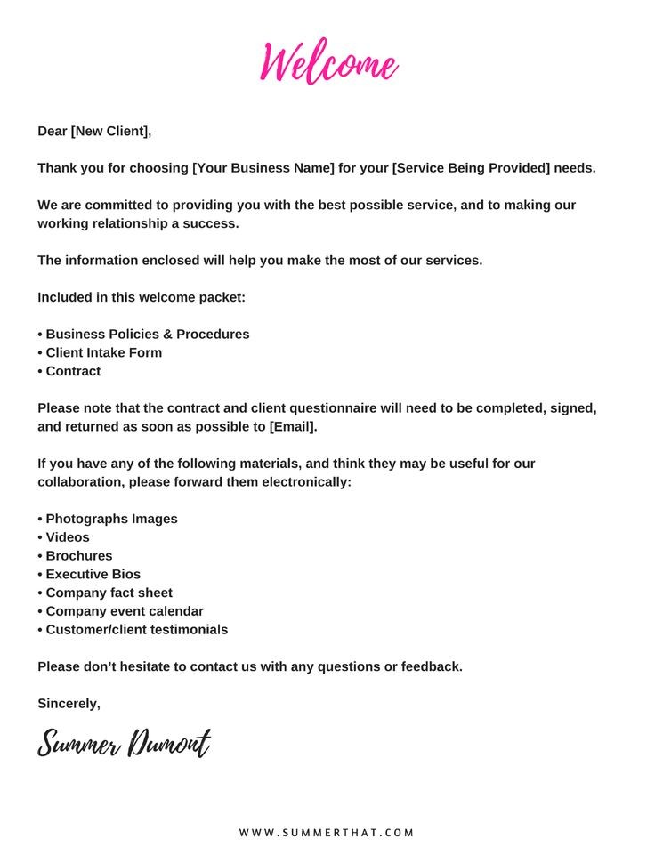 virtual assistant contract template  Virtual Assistant Welcome Packet and Contract   Va ..