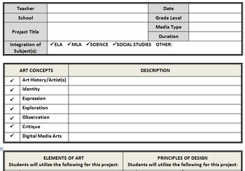 visual art lesson plan template  Visual Arts Lesson Plan Template-Word Document by Jessica ..