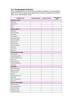 ugandan wedding budget template  Wedding Budget Checklist | Budget Wedding | Pinterest ..