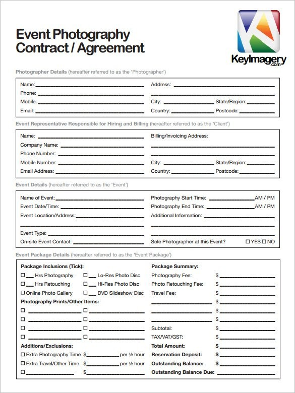 free photography contract template word  Wedding Photography Contract Template | Bonsai - Bonsai - free photography contract template word