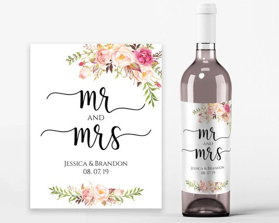 wine labels template  Wedding Wine Labels Wedding Wine Printable Wine Label Template - wine labels template