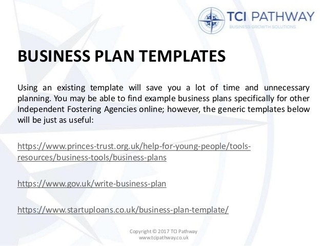 business plan template uk gov  Writing a Business Plan for an Independent Fostercare Agency - business plan template uk gov