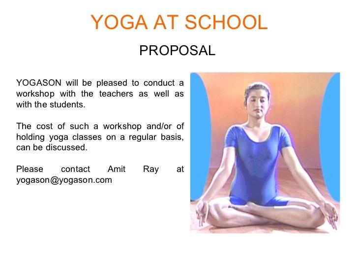 yoga proposal template  Yoga at School